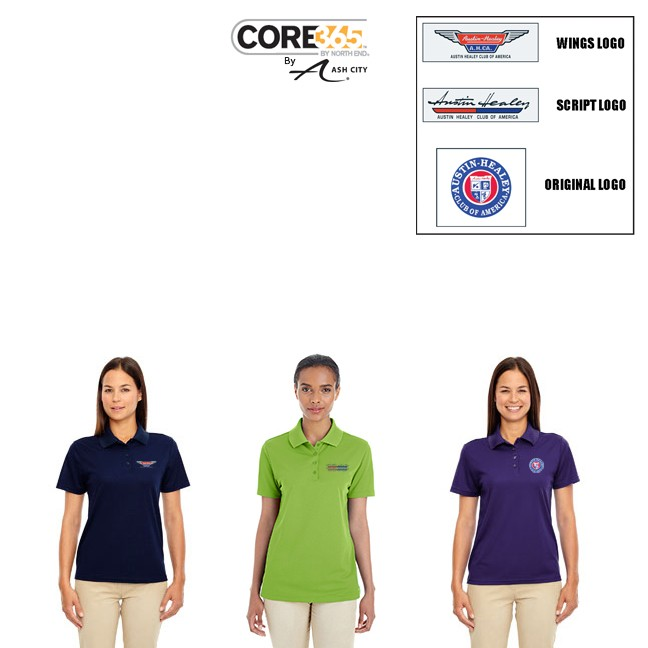 AHCA STEP- UP PROGRAM: Ash City Core 365 Brand Ladies' Origin Performance Wicking Material Pique Polo, Style #78181