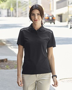 Ash City - Core 365 Ladies' Radiant Performance Piqué Polo with Reflective Piping 78181R