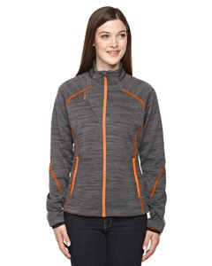 Ash City North End Sport Red Ladies' Flux Mélange Bonded Fleece Jacket