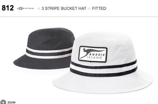 Richardson 3 STRIPE BUCKET HAT, FITTED