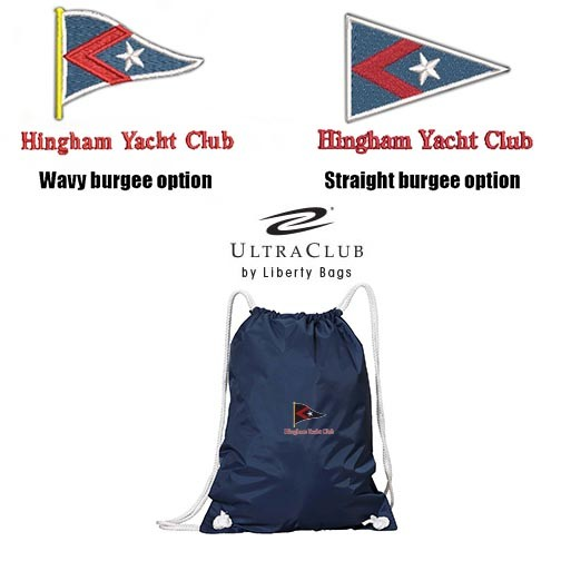 Hingham Yacht Club UltraClub by Liberty Bags White Drawstring Backpack- A Favorite!