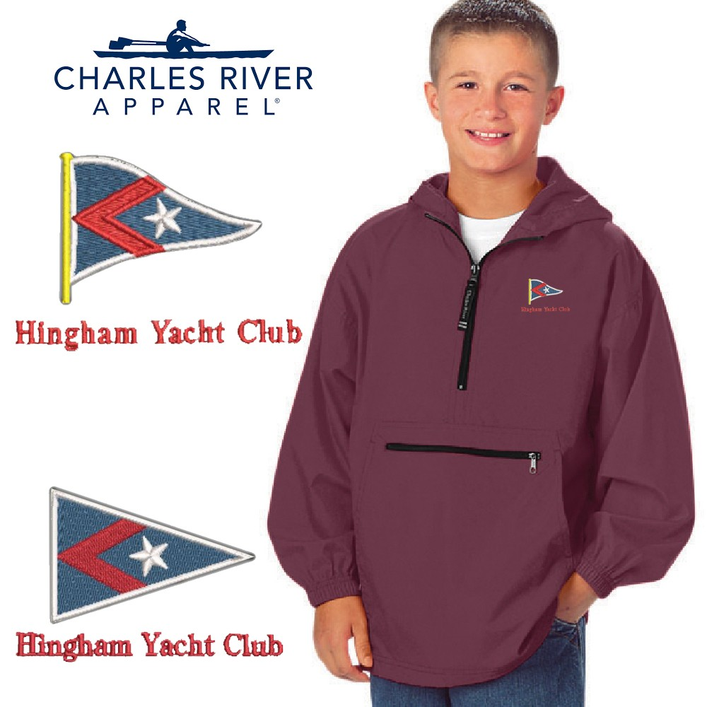 Hingham Yacht Club Charles River Youth Pack-n-Go Pullover 8904