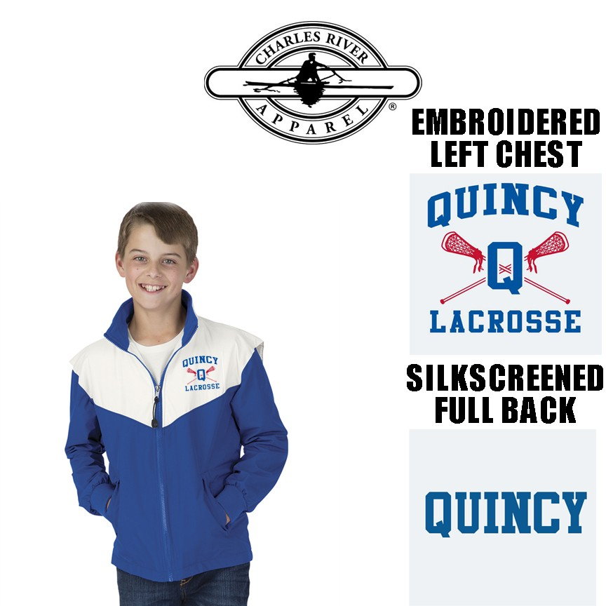 Quincy Lacrosse Charles River Championship Full Zip Jacket Youth Fit