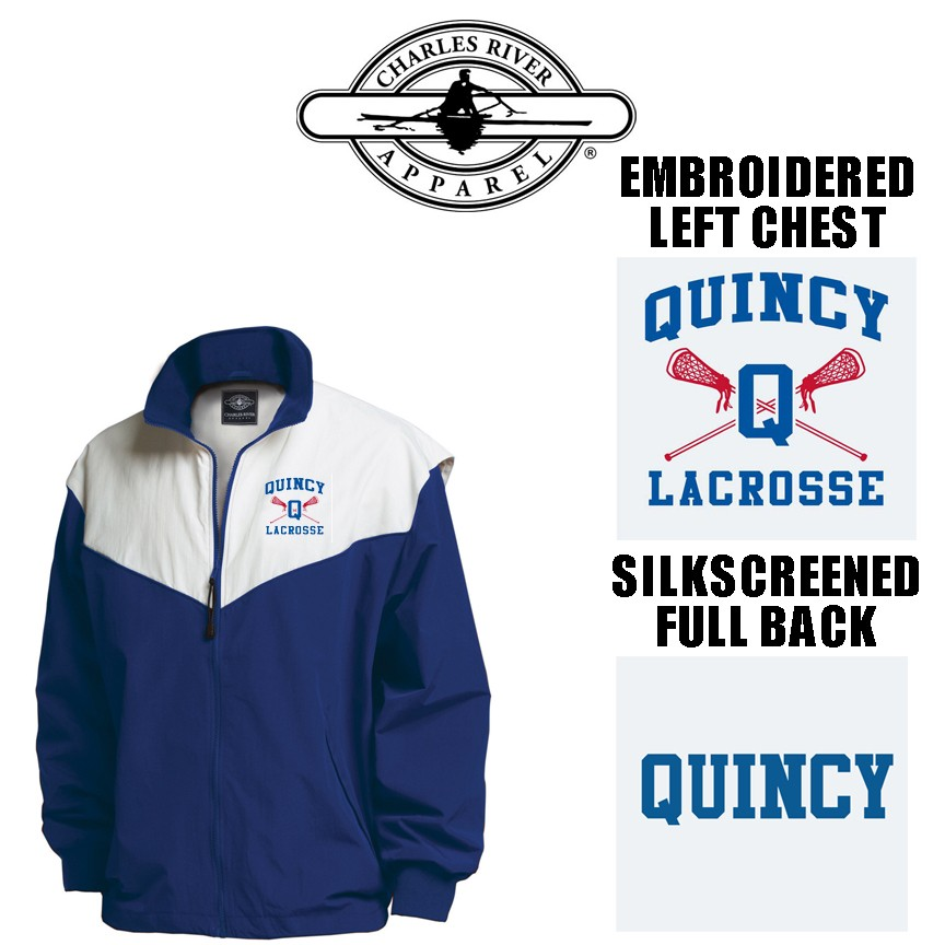 Quincy Lacrosse Charles River Championship Full Zip Jacket Adult Fit