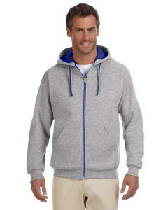 Jerzees 8 oz., 50/50 NuBlend® Contrast Full-Zip Hood