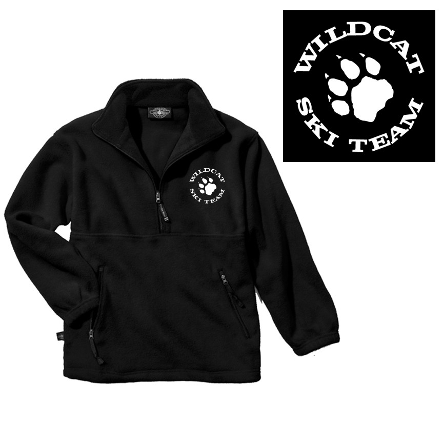 Wildcat Ski Team Charles River Adirondack Fleece Quarter-Zip Pullover (Adult Unisex)