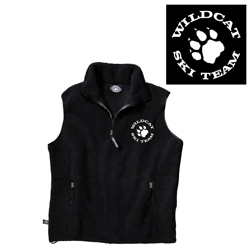 Wildcat Ski Team Charles River Ridgeline Fleece Vest (Youth Unisex)
