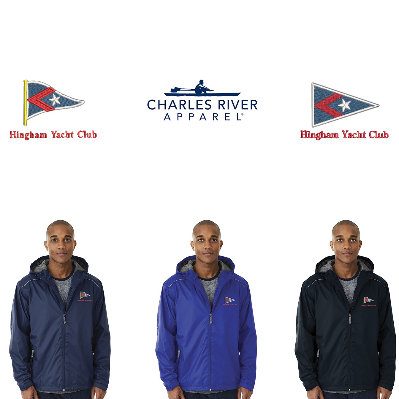 Hingham Yacht Club Charles River Adult Nor'Easter Rain Jacket 9675