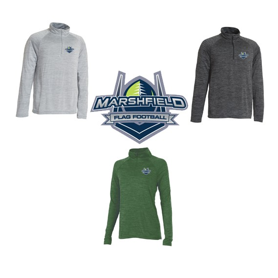Marshfield Flag Football Charles River Space Dye Performance Pullover for Men & Ladies