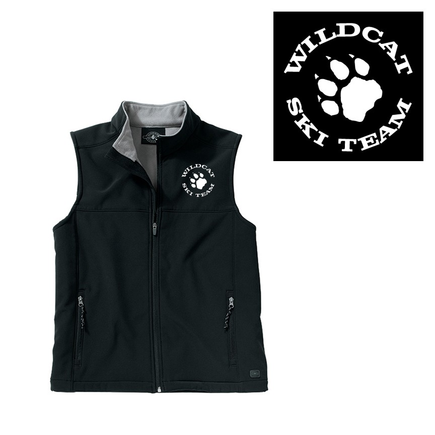 Wildcat Ski Team Charles River Classic Soft Shell Vest (Mens & Womens)