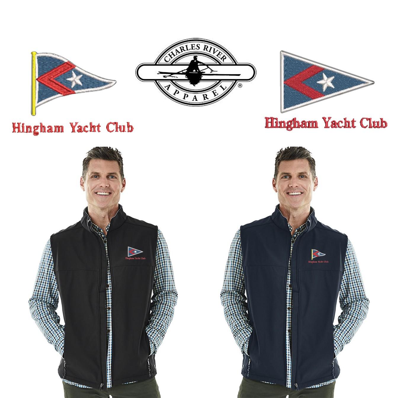 Hingham Yacht Club Charles River Men's Classic Soft Shell Vest 9819