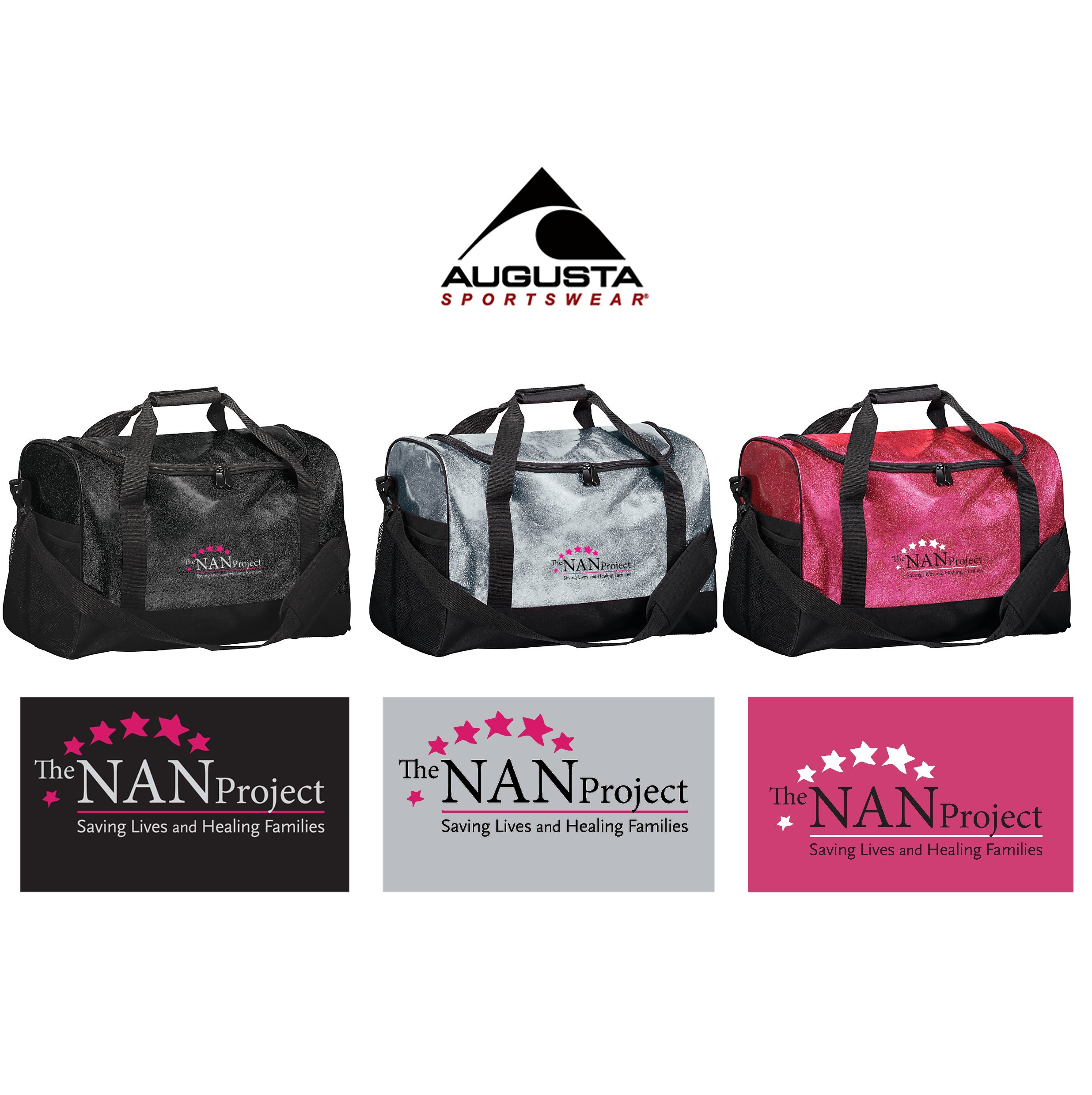 The NAN Project Augusta Glitter Duffle Bag