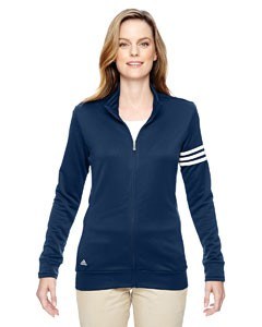 adidas Golf Ladies' climalite® 3-Stripes Full-Zip Jacket