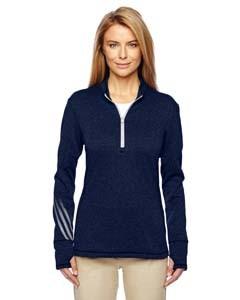 adidas Golf Ladies' Brushed Terry Heather Quarter-Zip