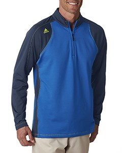 adidas Golf Men's ClimaWarm 3-Stripes Color Block 1/4-Zip Training Top