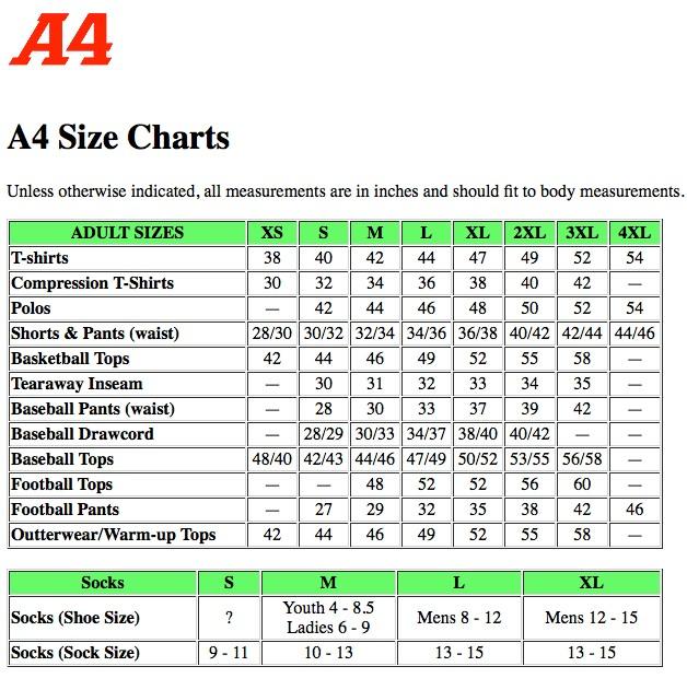 SIZE CHART- A4
