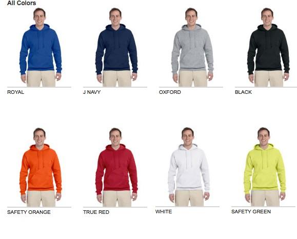 Jerzees Tall 8 oz., 50/50 NuBlend® Fleece Pullover Hood
