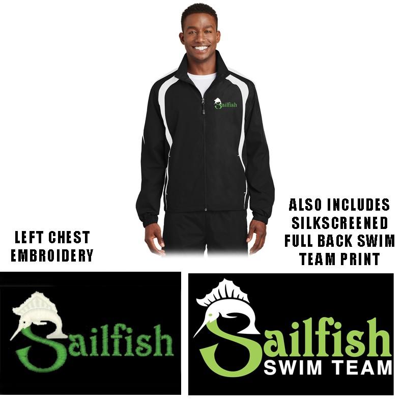 Sailfish Swim Team Sport-Tek® Colorblock Raglan Jacket, Adult