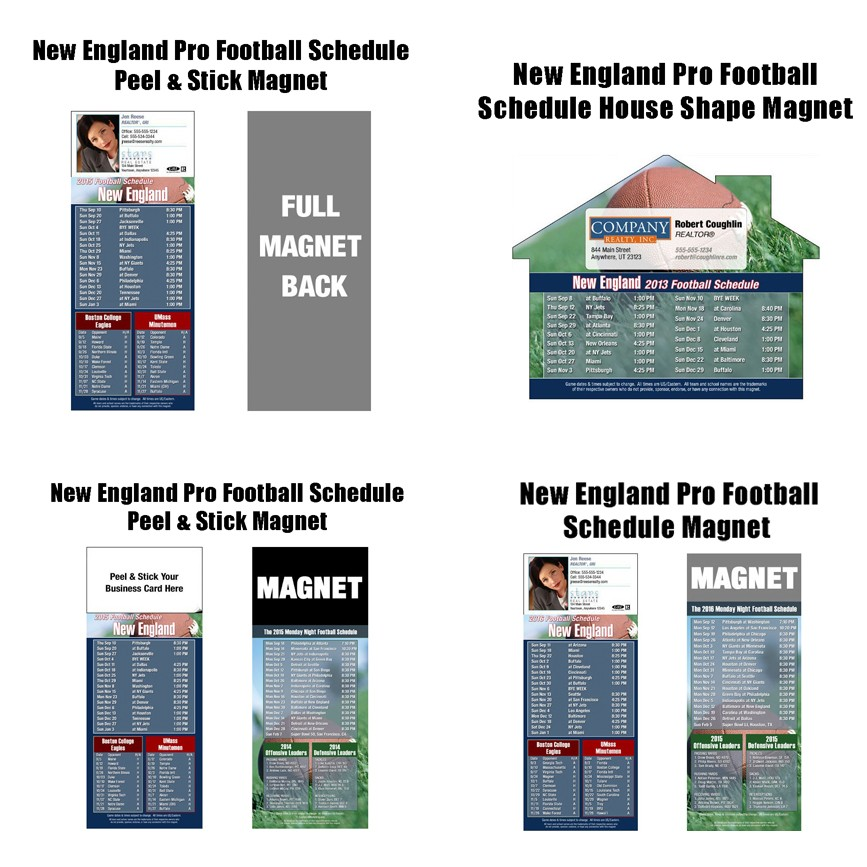 2017 New England Pro Football Magnets