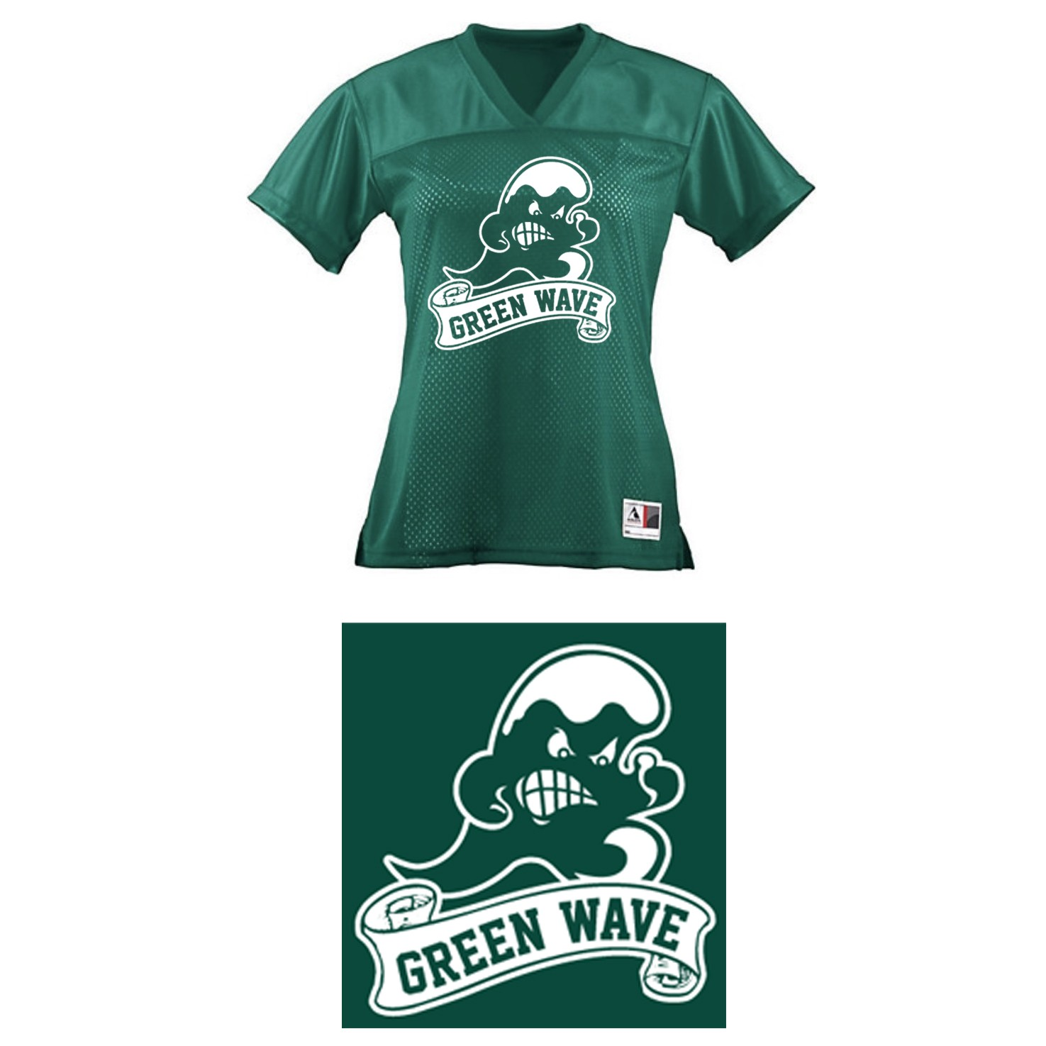 Abington Greenwave Boosters Augusta Ladies Junior Fit Replica Football Tee