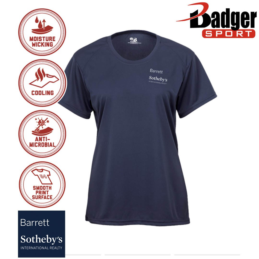 Barrett Sotheby's Badger B-Core Wicking Performance Sport T-Shirt, Ladies