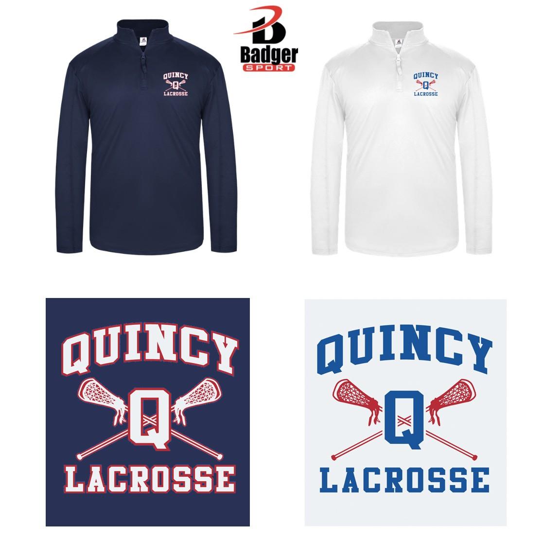 Quincy Lacrosse Badger 1/4 Zip Mens LightWeight Pullover