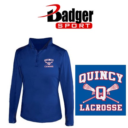 Quincy Lacrosse Badger 1/4 Zip Ladies Lightweight Pullover