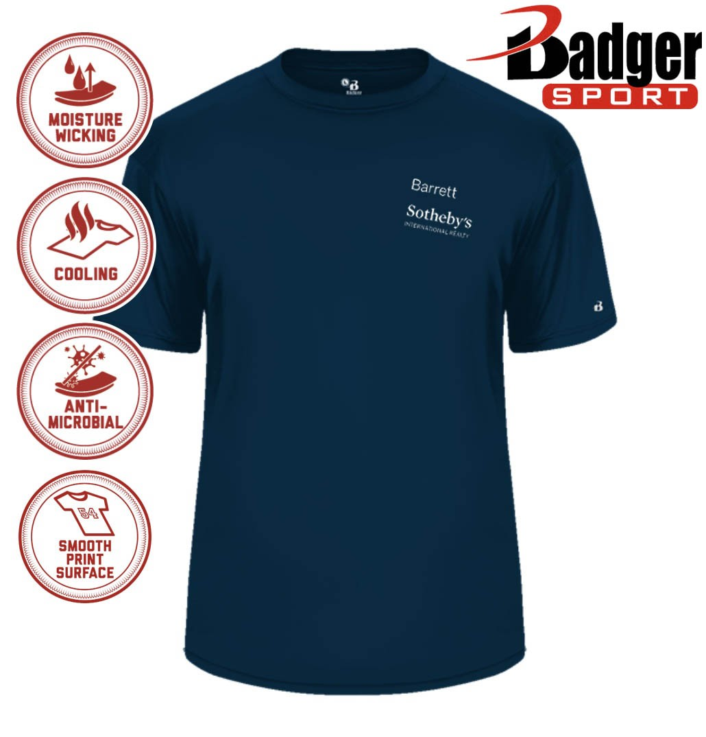 Barrett Sotheby's Badger B-Core Wicking Performance Sport T-Shirt, Men's