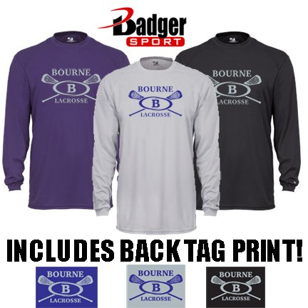 Bourne Lacrosse Badger B-Core Long Sleeve Performance Tee