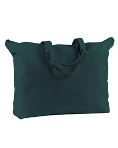BAGedge 12 oz. Canvas Zippered Book Tote