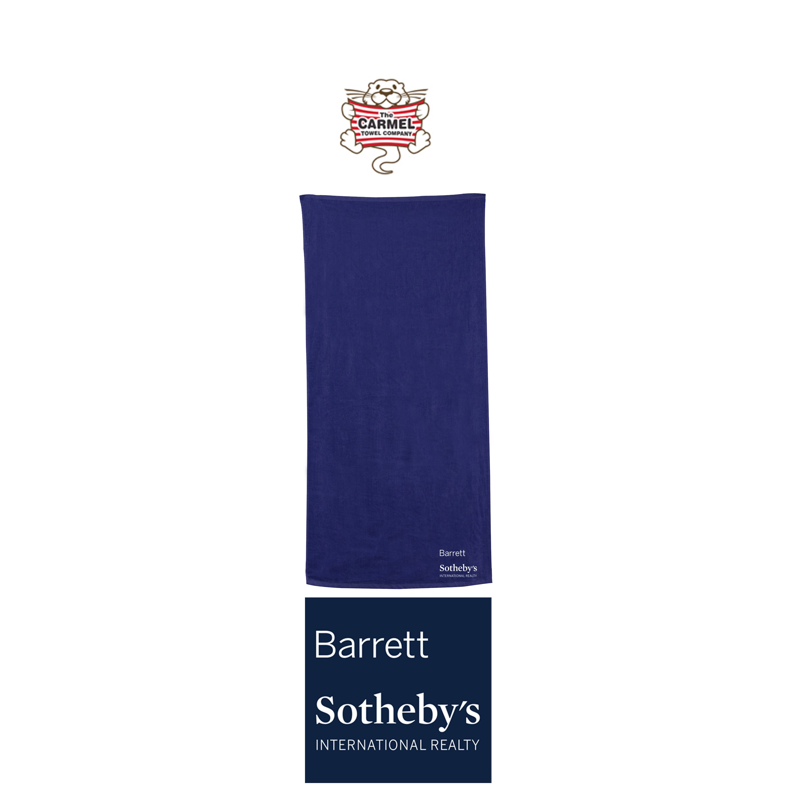Barrett Sotheby's Carmel Towel Company Classic Beach Towel, Embroidered