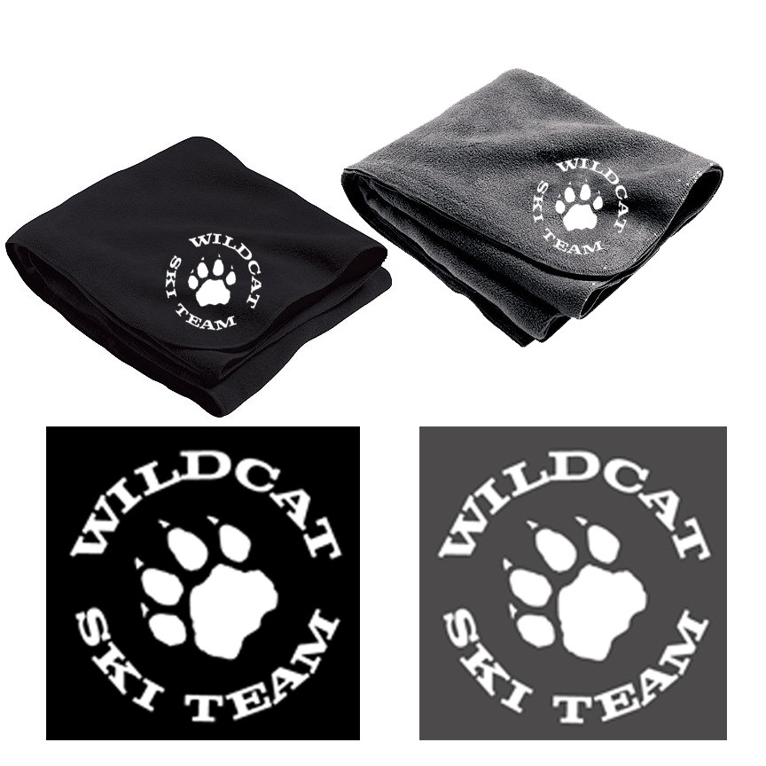 Wildcat Ski Team Holloway Stadium Blanket, Embroidered