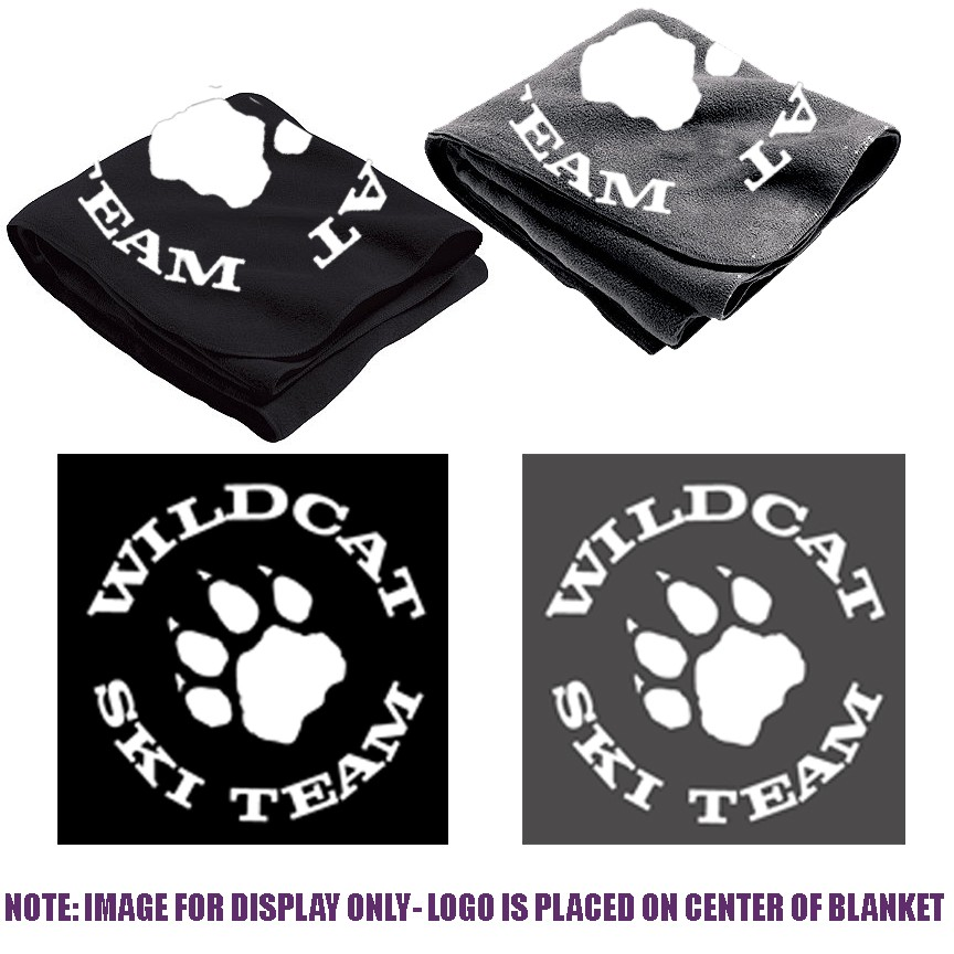 Wildcat Ski Team Holloway Stadium Blanket, Silkscreened