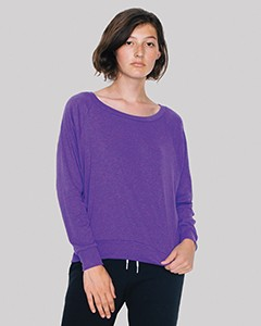 American Apparel Ladies' Triblend Lightweight Raglan Pullover BR394