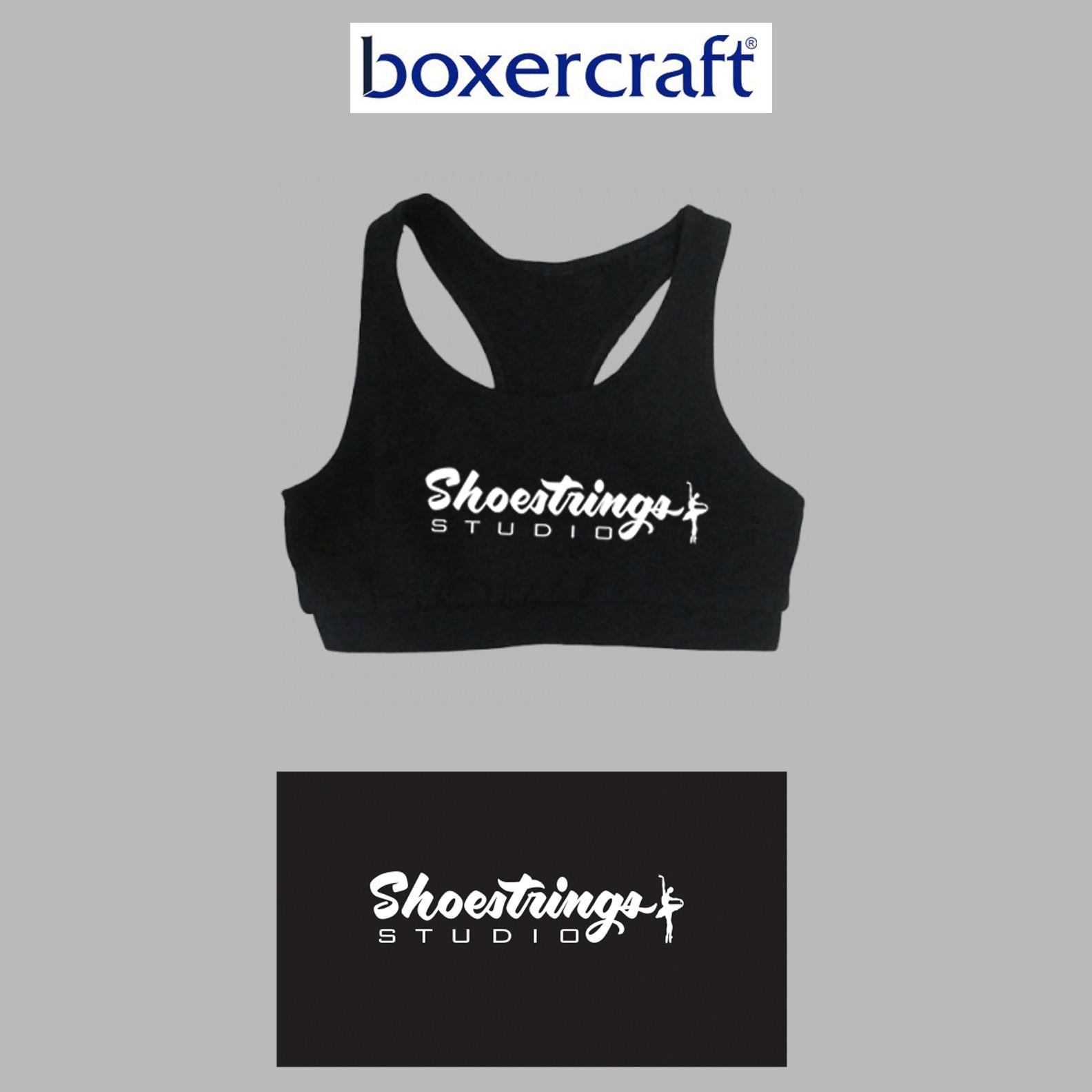 Shoestrings Studio Boxercraft Black Sports Bra, Youth
