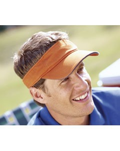 Big Accessories Washed Twill Sandwich Visor