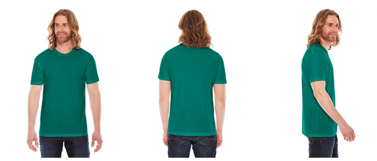 American Apparel Unisex Poly-Cotton Crew Neck T-Shirt BB401W