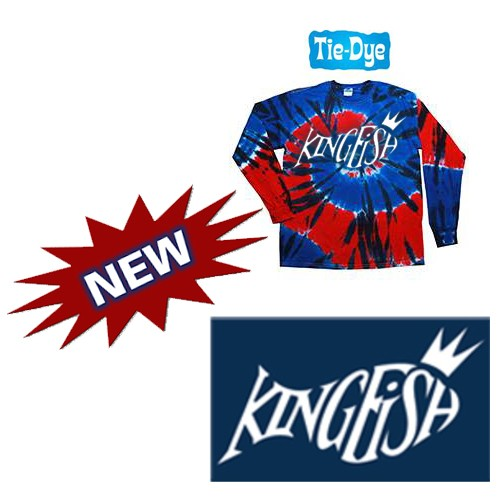 Kingfish Swim Team Tie-Dye Adult 5.4 oz., 100% Cotton Long-Sleeve Tie-Dyed T-Shirt- NEW!