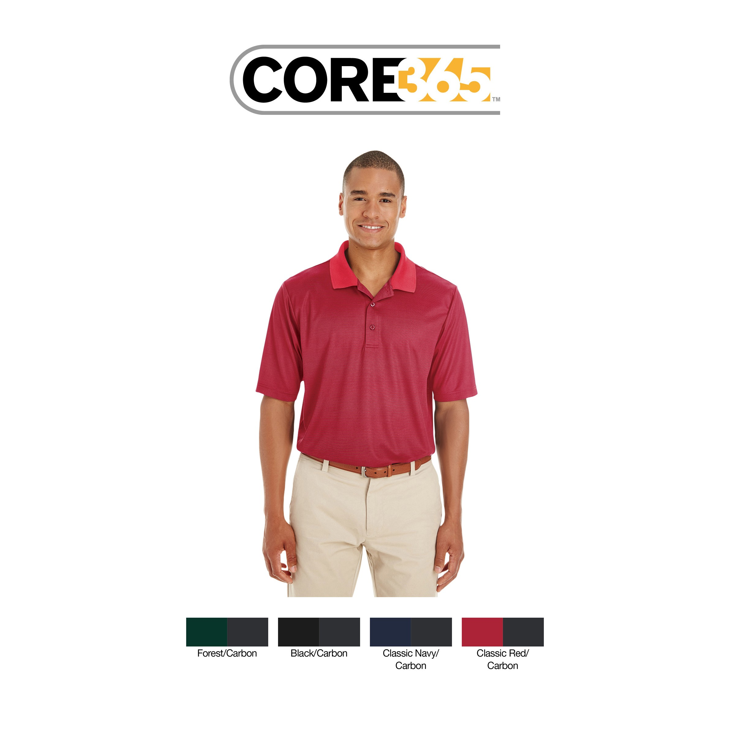 Ash City - Core 365 Men's Express Microstripe Performance Piqué Polo CE102