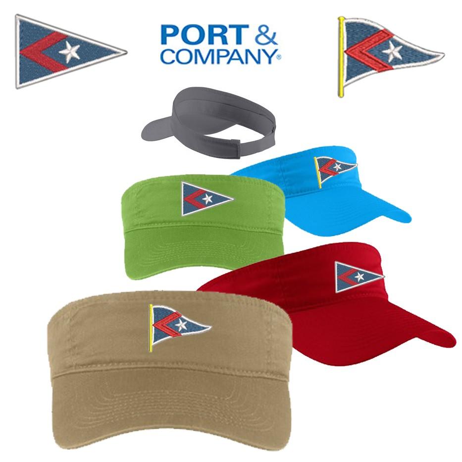 Hingham Yacht Club Port & Company® - Fashion Visor. CP45