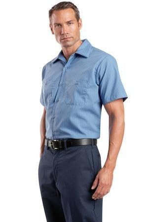 Red Kap® - Short Sleeve Striped Industrial Work Shirt