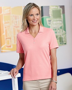 Devon & Jones Ladies' Pima Piqué Short-Sleeve Y-Collar Polo D100W