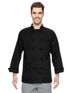 Dickies 7 oz. Cloth Knot Button Chef Coat- CLEARANCE