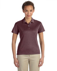 Devon & Jones Pima-Tech™ Ladies' Jet Pique Heather Polo