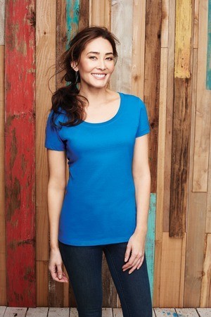 District Made® Ladies Perfect Weight® Scoop Tee DM106L