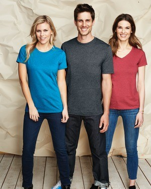 District Made® Ladies Perfect Blend® V-Neck Tee DM1190L