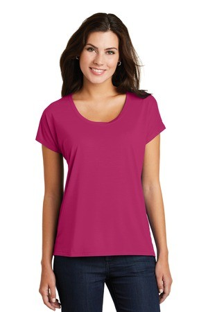 District Made® Ladies Drapey Dolman Tee DM412