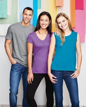 District® Juniors Soft Wash V-Neck Tee DT4501