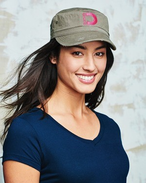 District® - Distressed Military Hat