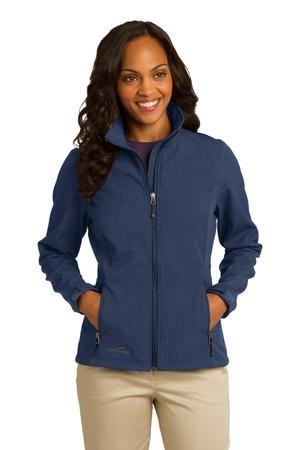 Eddie Bauer® Ladies Shaded Crosshatch Soft Shell Jacket. EB533